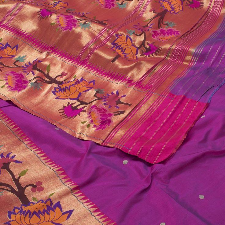 Ghanshyam Sarode Handwoven Paithani Silk Sari 1005879 - Saris / Paithani - Parisera
