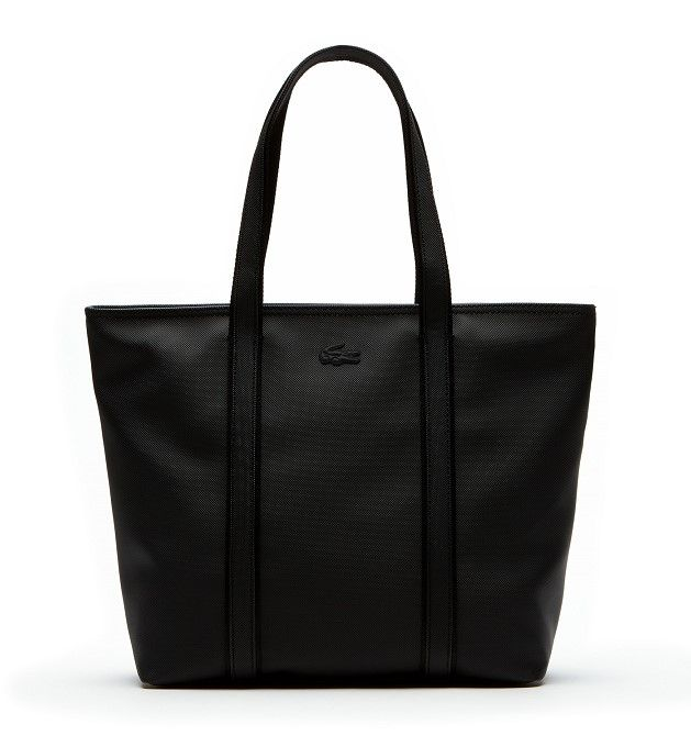 Soldes Sacs Lacoste, achat Sac cabas zippé Women's Classic Lacoste monochrome pas cher prix Soldes Lacoste 91,00 € TTC au lieu de 130 €