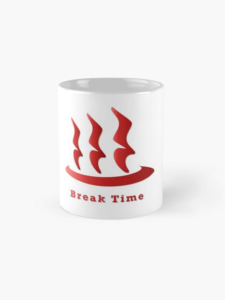 Onsen Hot Spring and Quarter Rest Symbol RED | Mug