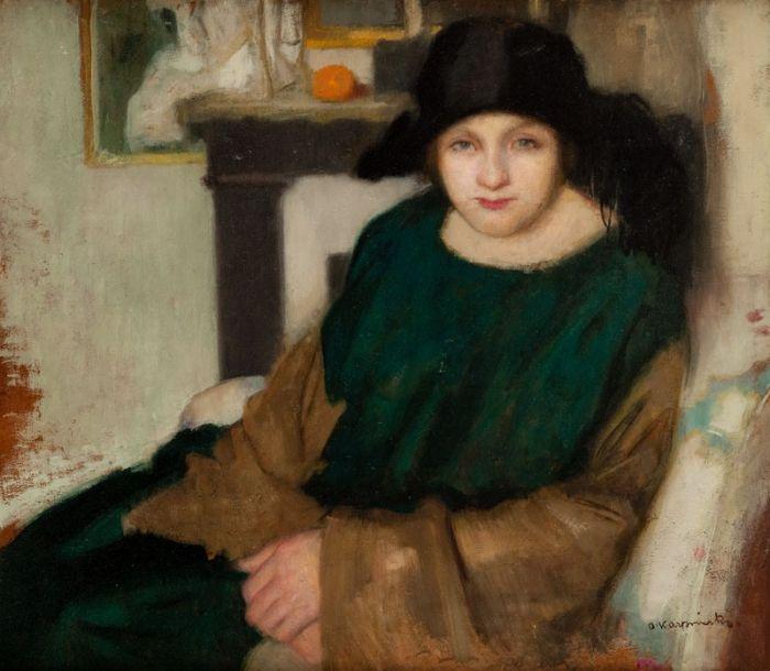 Alfons Karpiński - Kobieta w kapeluszu
