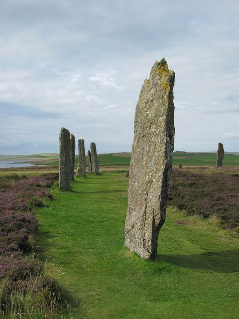Ring O'Brodgar stones in Orkney Islands, Scotland (by Castle Gaby).