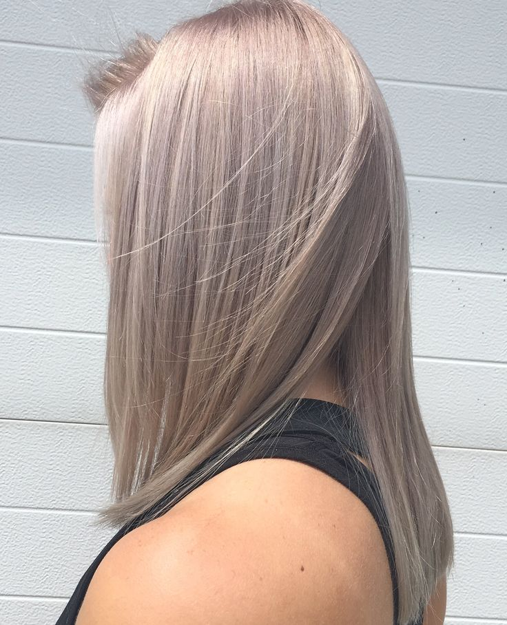 Silver pastel lavender hair