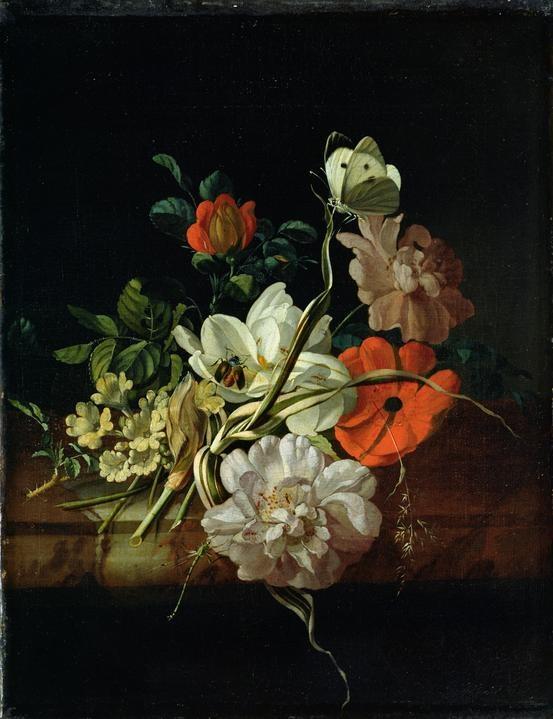 Still Life with Flowers - Rachel Ruysch  - 1691
