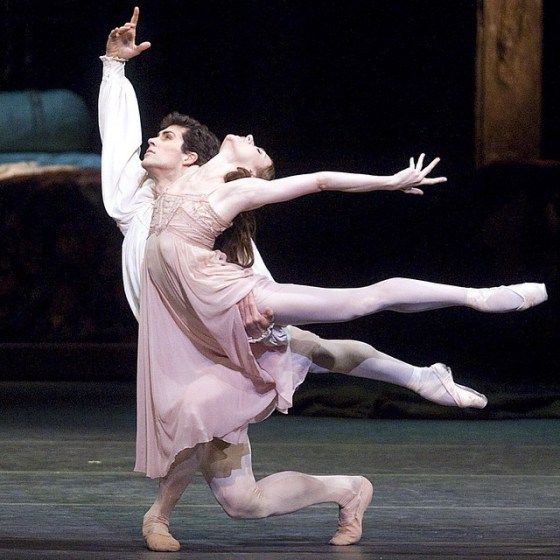 "Irina Dvorovenko and Roberto Bolle in ""Romeo and Juliet"" (American Ballet Theatre) # Photo © Gene Schiavone"