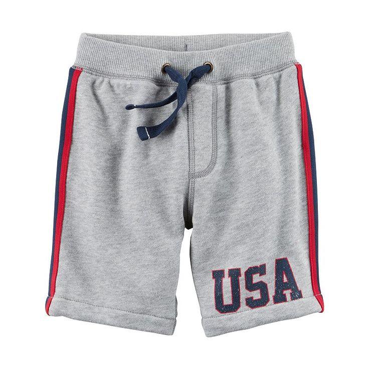 Boys 4-8 Carter's USA Pull-On Shorts, Boy's, Size: 6, Light Grey