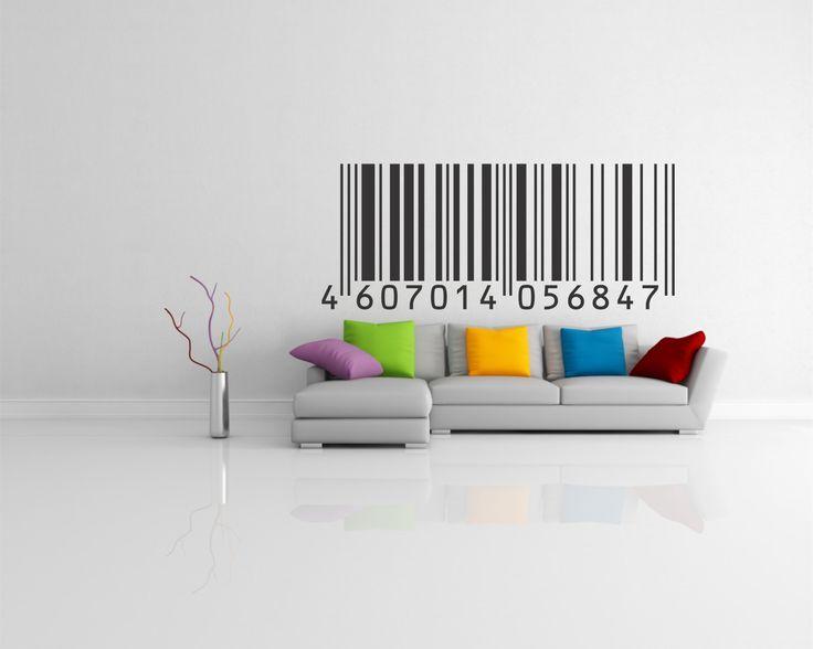 código de barra para decorar tu living