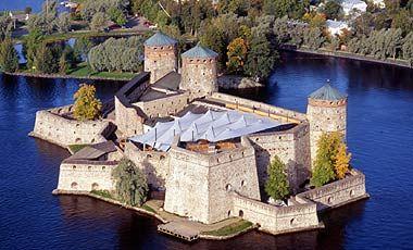 Olavinlinna, Finland. Temporary roof during annual Opera Festival.