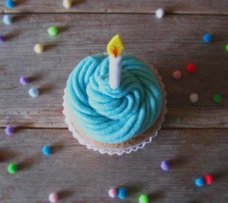 Neue Filz Geburtstag Cupcake Mint blau von milkfly auf Etsy