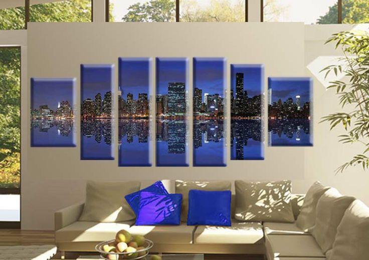 Tablou Manhattan 2899 Dimensiune: 2x 40x50 cm + 2x 30x70 + 3x 30x80 cm Total: 230x80 cm