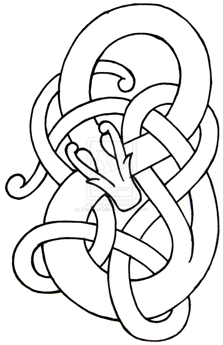 Norse dragon pattern - I want to turn this into a snake that turns into a vine.  This is the one, maybe.