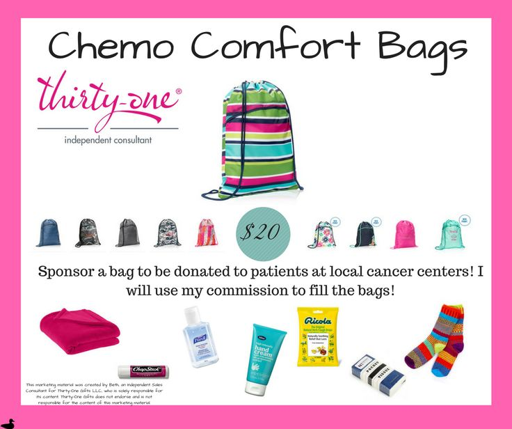 March 2017 Fundraiser Thirty-One Gifts Thirty-One Chemo Fundraiser Chemo comfort bags