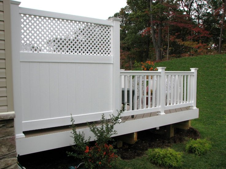 Azek low maintenance 6 39 deck privacy panel with lattice for Outdoor privacy panels for decks