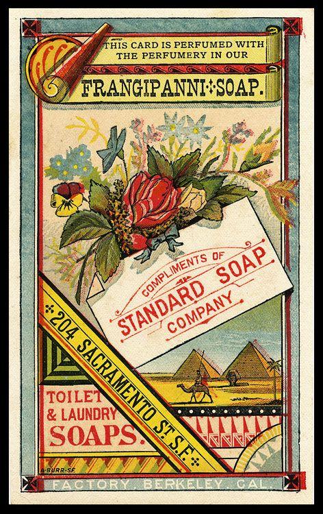 A lovely vintage trade card for Standard Soap Co.. #vintage #ads #soap