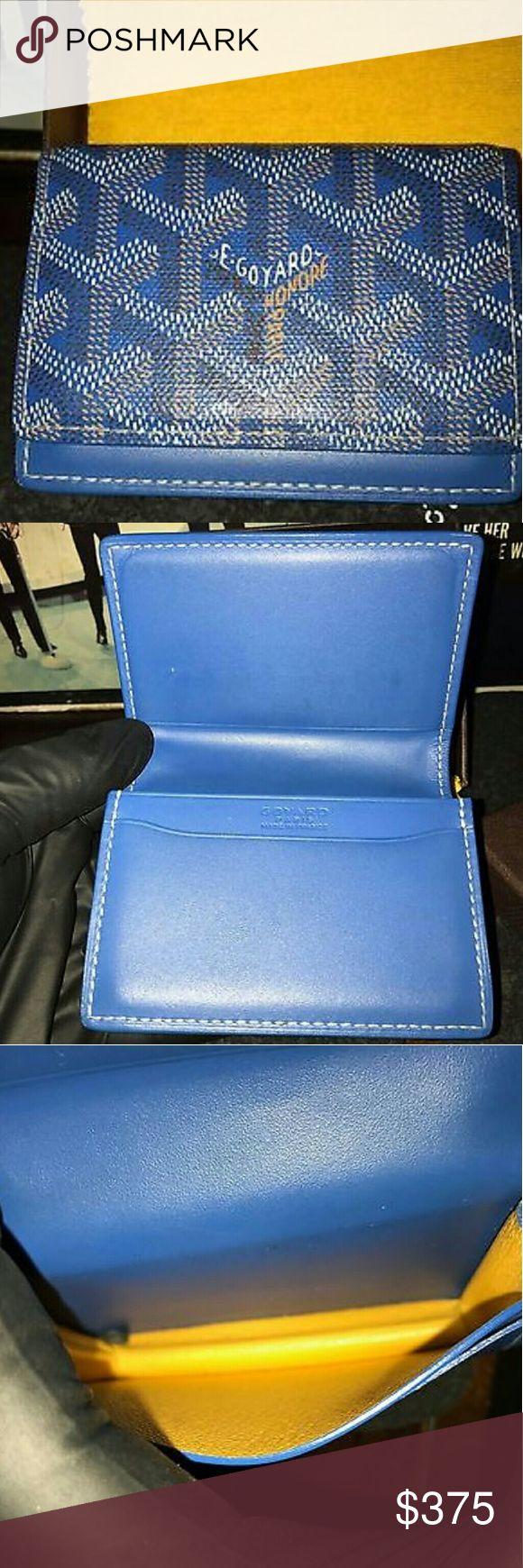 Goyard Men's Wallet New Mens Authentic Goyard ID Credit Card Carrier Wallet Blue. W Reciept Goyard Other