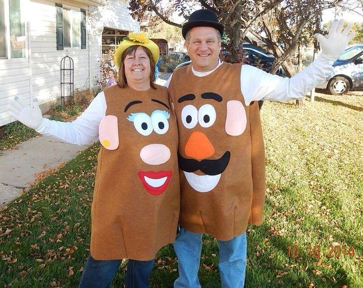 Mr and Mrs Potato Head costumes; pretty easy to make.