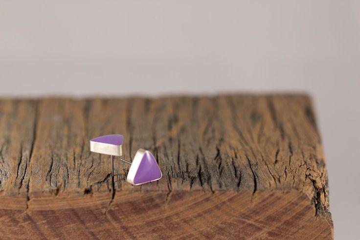 Stud Earrings | Sterling Silver Earrings | Silver Earrings | Resin and Silver Earrings | Everyday Earrings | Gift for Her | Triangle Studs by AndonaDesigns on Etsy https://www.etsy.com/au/listing/495736916/stud-earrings-sterling-silver-earrings