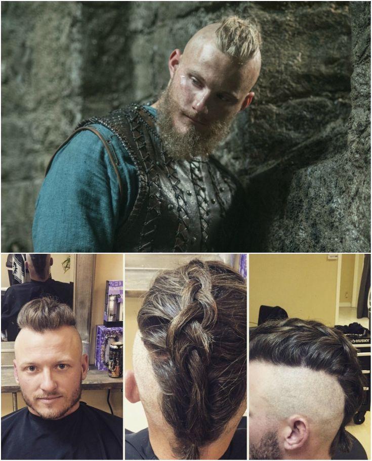 wikinger frisuren männer knoten flechten björn eisenseite #frisuren #hairstyle #hair