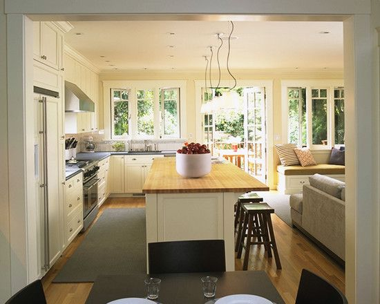 Butcher block kitchen island with seating design open for Open kitchen island with seating