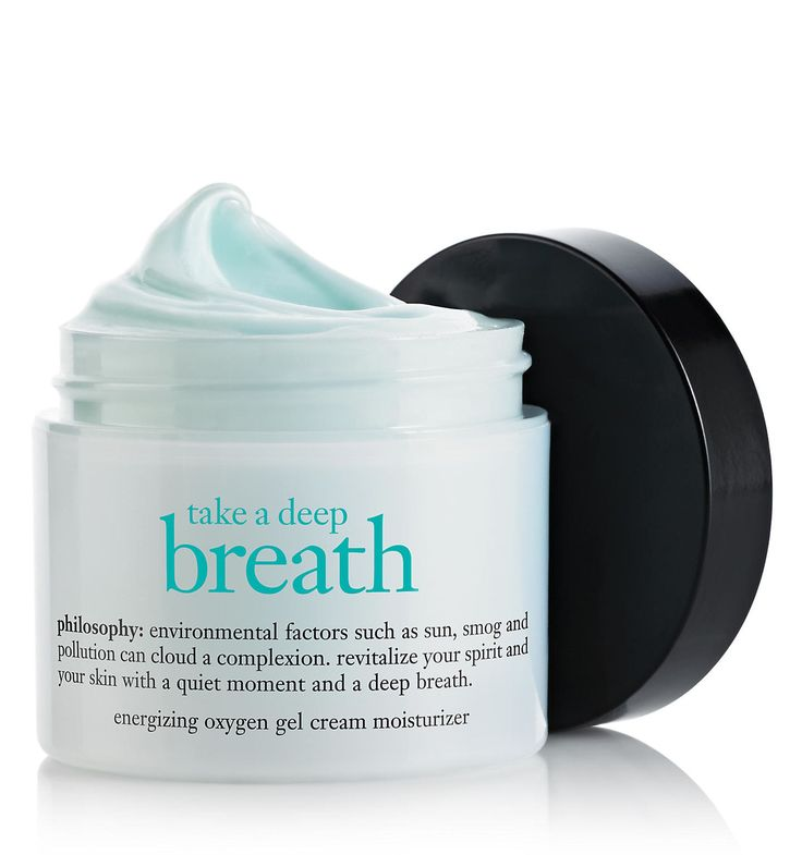 take a deep breath | oil-free energizing oxygen gel cream moisturizer | philosophy moisturizers