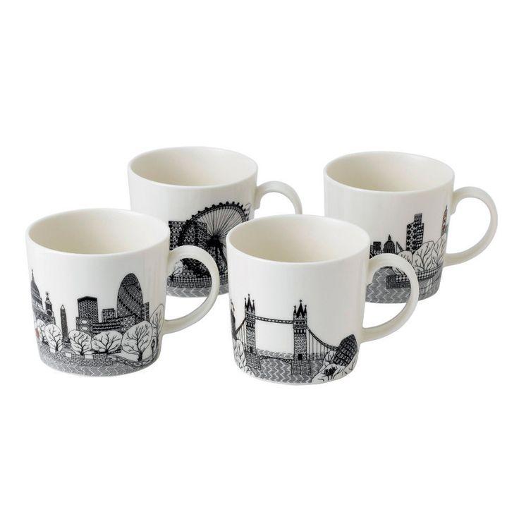 Royal Doulton London Calling Set of 4 Mugs - WWRD Australia