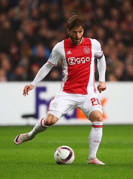 Lasse Schone of Ajax in action during the UEFA Europa League Group G match between AFC Ajax and Panathinaikos FC at Amsterdam Arena on November 24, 2016 in Amsterdam, Netherlands.
