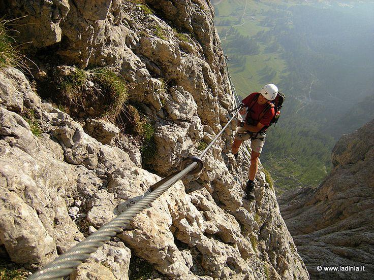 Ferrata Tridentina | Colfosco / Colfuschg | ferrata, tridentina, brigata, pisciadu, passo, gardena, colfosco, val badia, ladinia, wandern, escursione, sentiero, gps, attrezzato | Val Badia e Alta Badia, escursioni, itinerari, camminare, passeggiate nella natura.