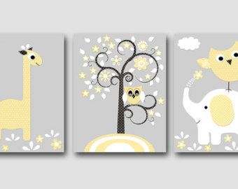 Kinderbilder fürs kinderzimmer giraffe  Die besten 25+ Elefant kinderzimmer kunst Ideen auf Pinterest ...