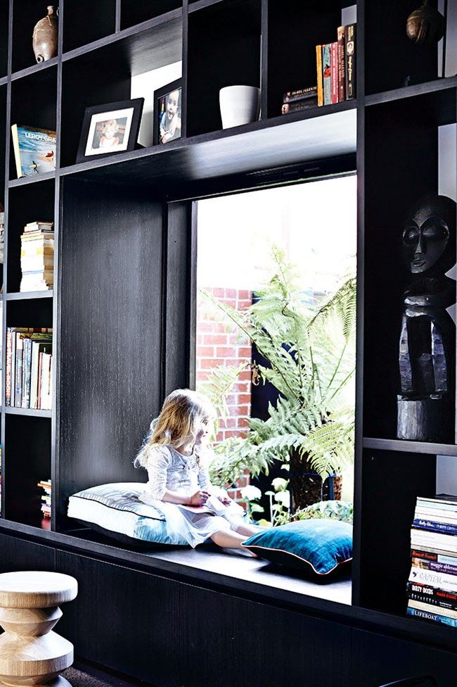 Ask about putting in a shelf or build in above the window