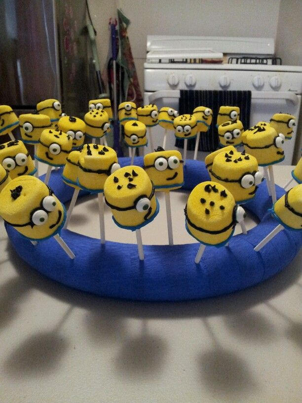 minion party... marshmallows ... the kids loved them