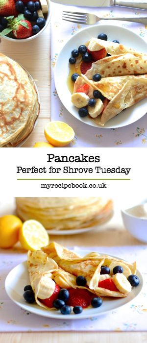 How to make traditional pancakes. ...♥♥... Just what you need for pancake day.