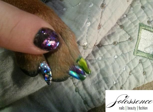 206 best nail art images on pinterest nail scissors cute nails empower nail art hugs to the curve of a dogs nail prinsesfo Images