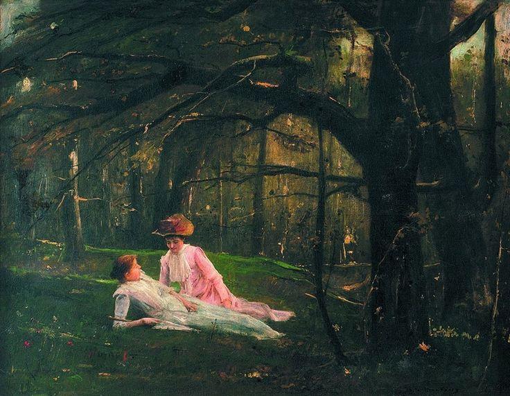 Munkácsy Mihály (1844-1900) - Pihenés az erdőben
