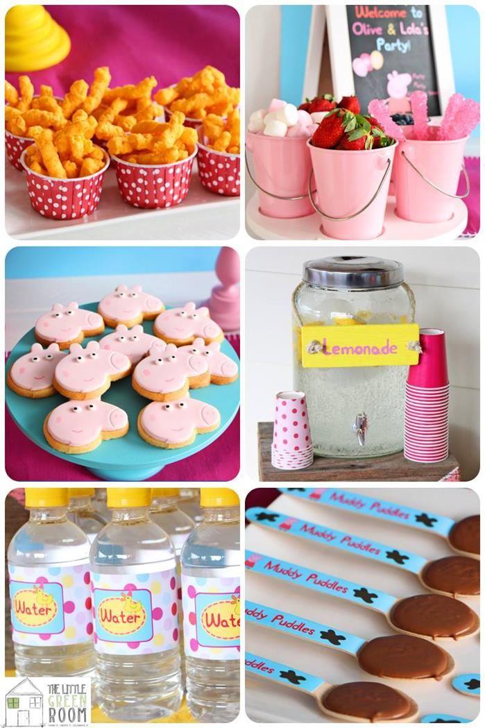 Peppa Pig birthday party food treats sweets