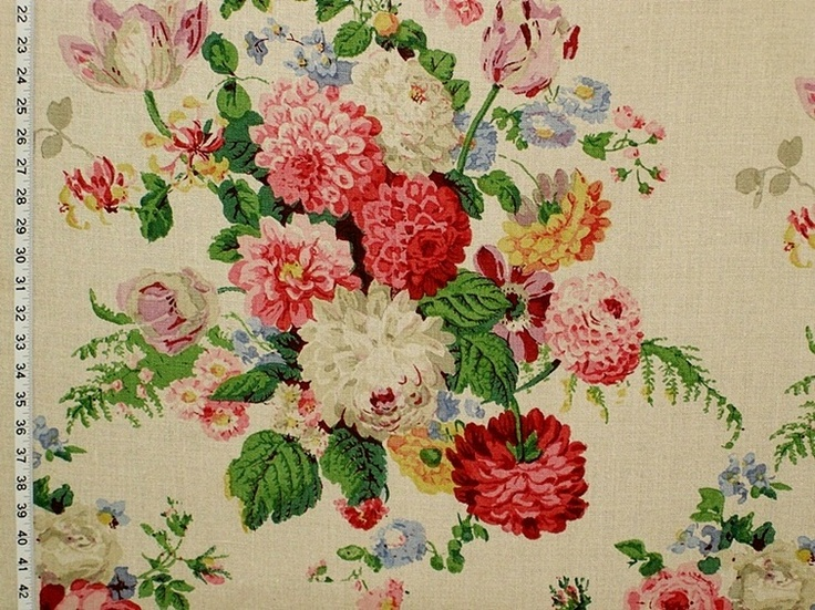 A clarence house fabric with victorian flowers this for Victorian floral fabric