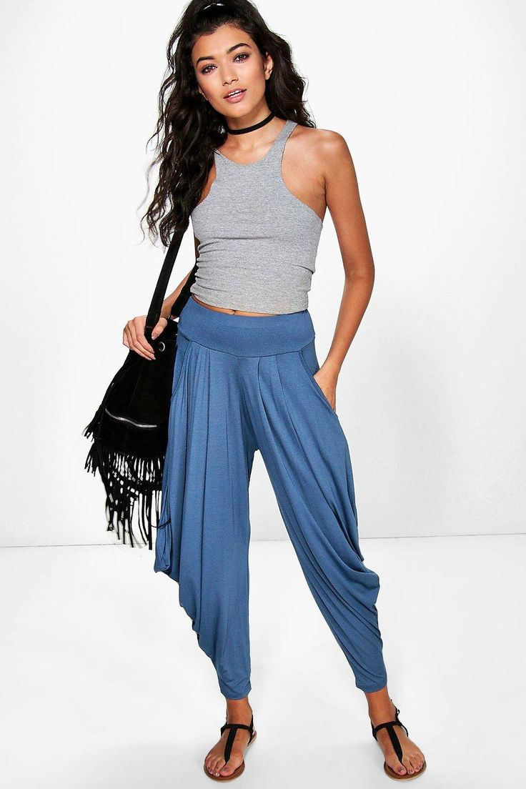 Oversized Slouchy Hareem Trousers - denim
