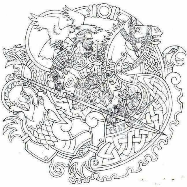 Viking Coloring Pages For Adults : Best images about coloring warriors on pinterest