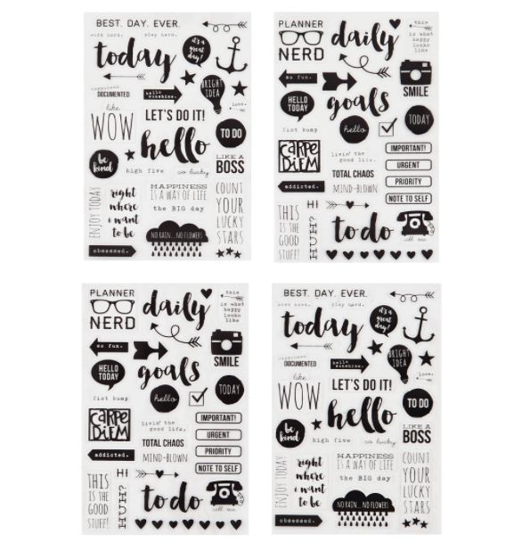 Carpe diem planner clear stickers planner accessories