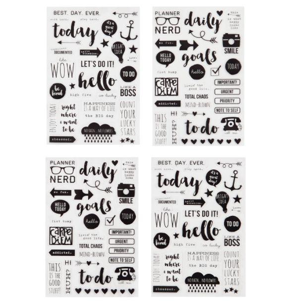 Carpe Diem Planner Clear Stickers - Planner Accessories