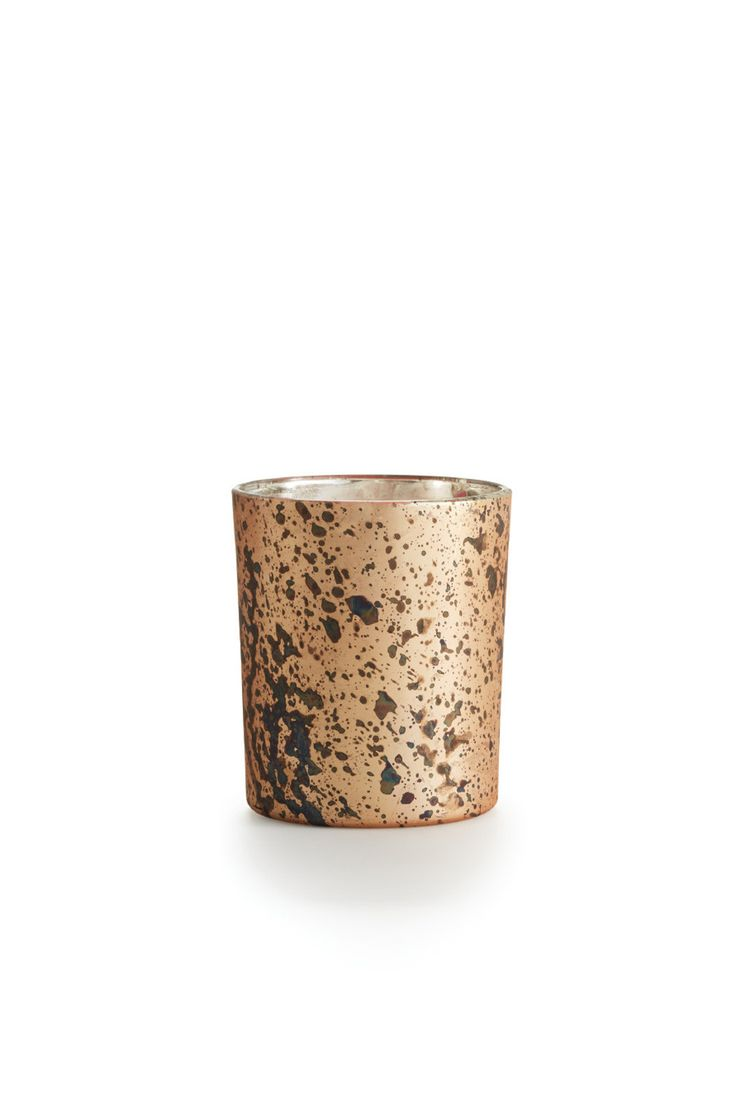 Copper Rose Majestic Glass Candle Glass Candle Copper Rose