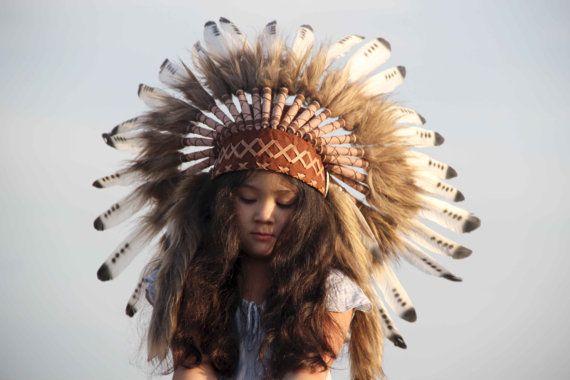 Penacho indio infantil tocado indio infantil penacho por etnikabali