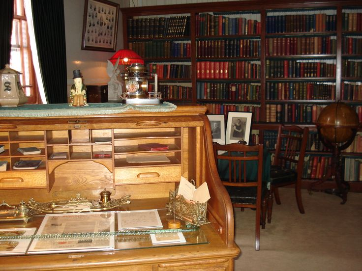 Even though Sammy Marks had an office on Church Square, the study is crammed with books