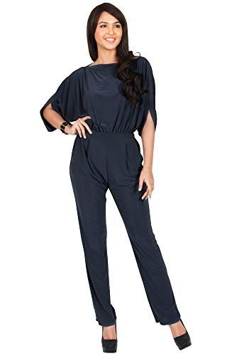 6b3924e329d5 KOH KOH Womens Short Sleeve Sexy Formal Cocktail Casual Cute Long Pants One  Piece Fall Pockets Dressy Jumpsuit Romper Long Leg Pant Suit Suits Outfit  ...