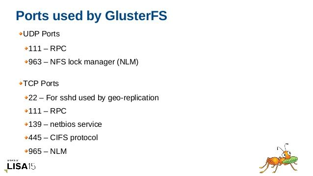 Gluster Ports