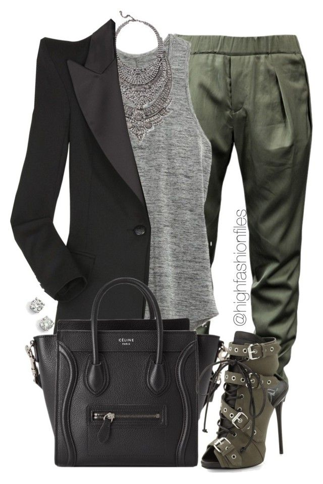"""""""Jogger x Booties"""" by highfashionfiles ❤ liked on Polyvore"""