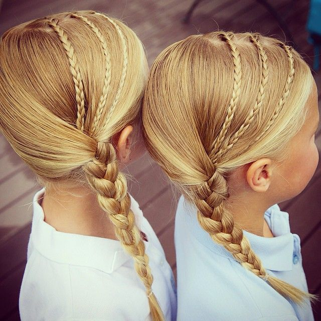 3 accent braids to a side braid! http://youtu.be/_GwFGqN3PNE #twinshair…