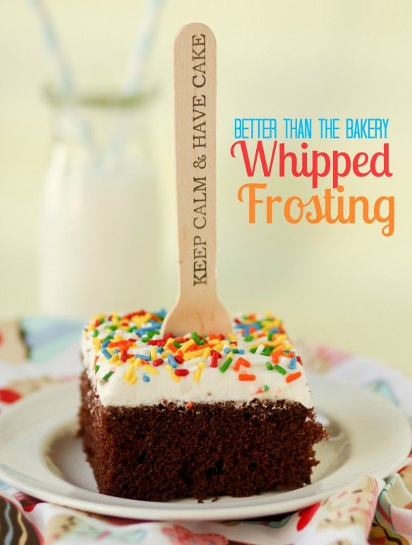Better Than the Bakery Whipped Frosting -- NOT greasy, no funky ingredients, and HALF the sugar of regular buttercream.