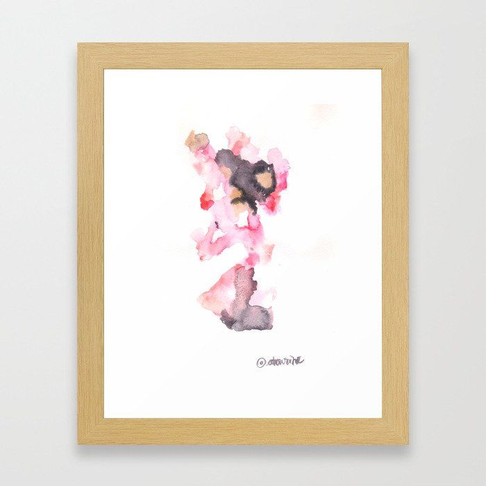 Buy Watercolor Pink Black Flow Dec Connect 3 Pretense Framed