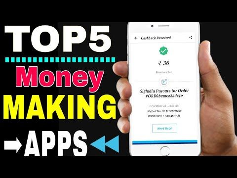 TOP 5 EARNING App 2018 For Android (Hindi) - YouTube Best