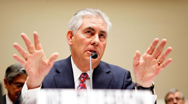 Rex Tillerson's ExxonMobil worked with more than one country that was sanctioned for state-sponsoredterrorism. via An ExxonMobil Subsidiary Reportedly Did Business With Iran And Syria While Rex Ti…