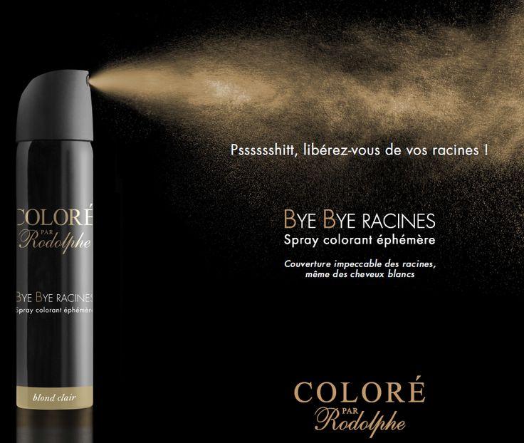 spray colorant éphémère pour les cheveux,  Bye Bye Racines